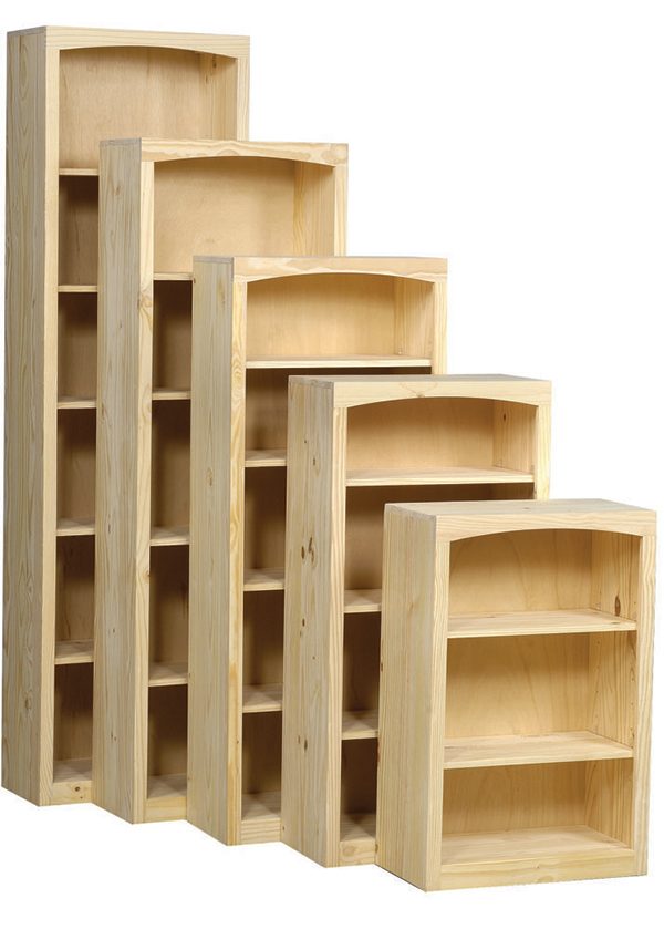 Pine 24 Inch Bookcase Portland Or Natural Furniture