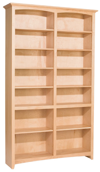 Alder Mckenzie Bookcase Natural Unfinished Furniture