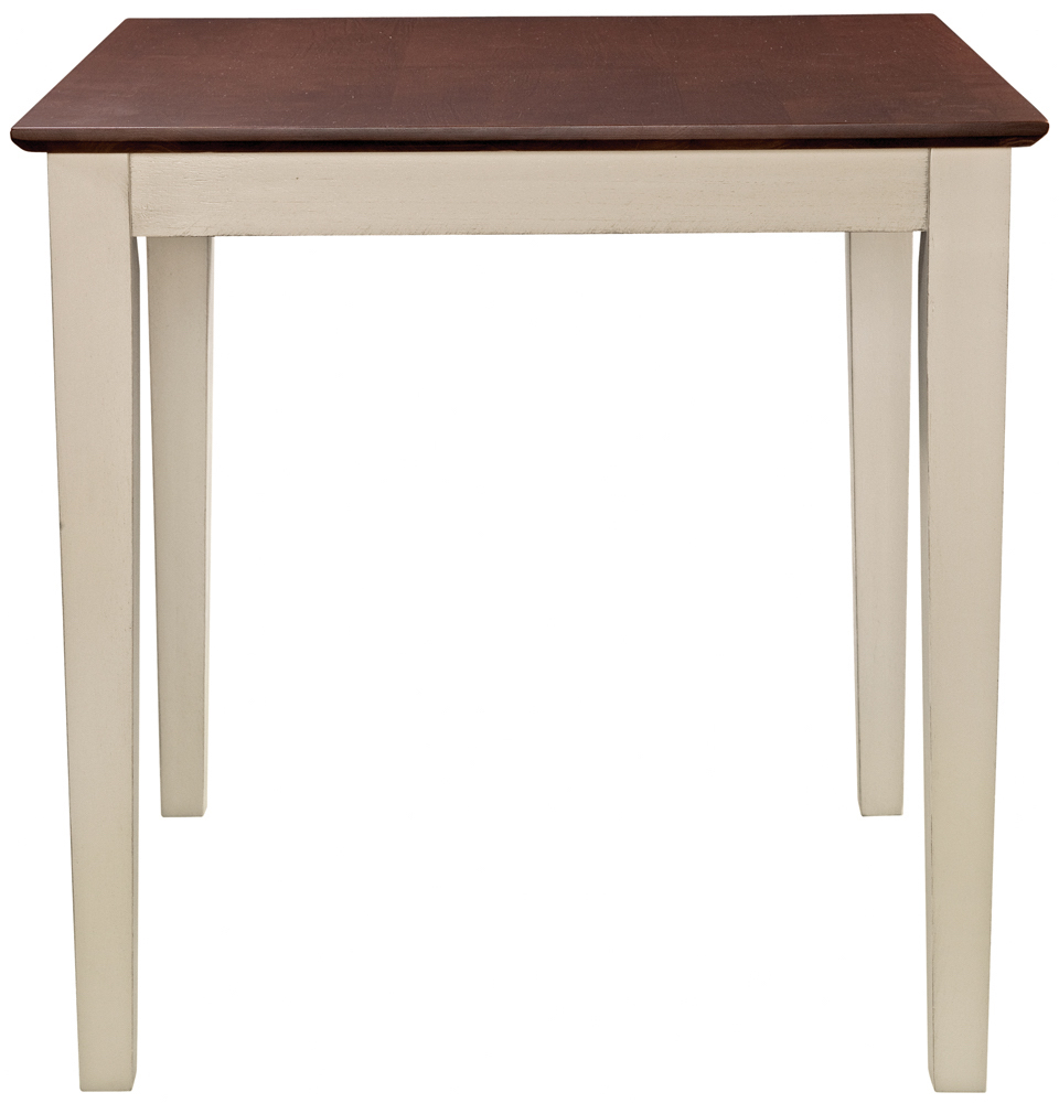 Parawood 30 Inch Square Table Top & Legs, Almond & Espresso