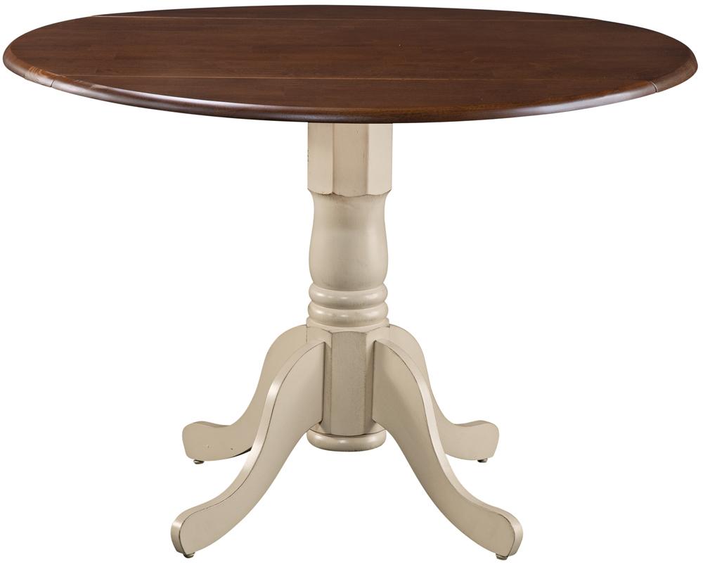 Parawood 42 Inch Dropleaf Table, Almond U0026 Espresso