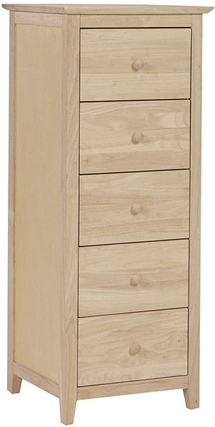Parawood Lancaster 5 Drawer Lingerie Chest Natural Furniture