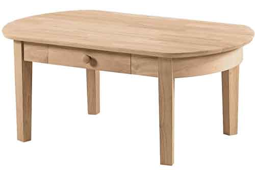 Parawood Phillips Oval Coffee Table Natural Furniture