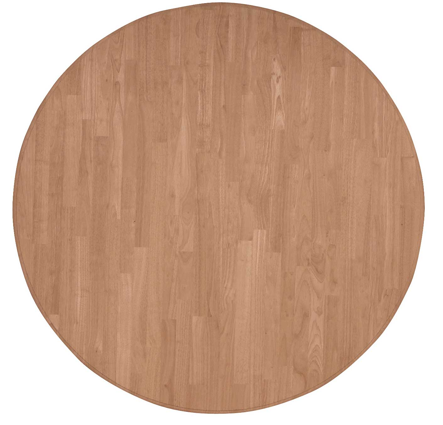parawood 52 inch solid round table top natural