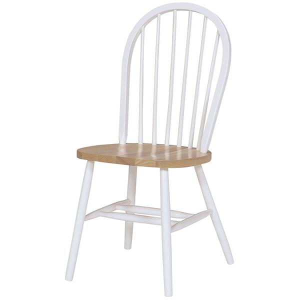 Parawood Windsor Chair, White/Natural