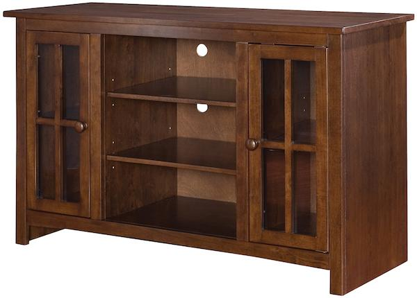 Parawood Open Entertainment TV Stand, Espresso