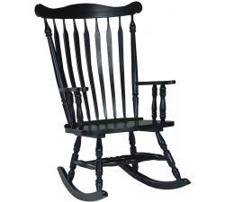 Parawood Colonial Rocker, Antique Black